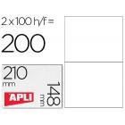 Etiquetas adesivas a4. apli. 210 x 148 mm