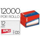 Etiqueta adesiva apli 1676 tamanho 8x12 mm em rolo de 12000 unidadees
