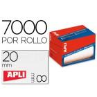 Etiqueta adesiva apli 1677 tamanho 8x20 mm em rolo de 7000 unidadees
