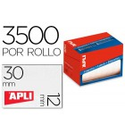 Etiqueta adesiva apli 1680 tamanho 12x30 mm em rolo de 3500 unidadees