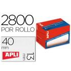 Etiqueta adesiva apli 1681 tamanho 13x40 mm em rolo de 2800 unidadees