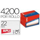 Etiqueta adesiva apli 1683 tamanho 16x22 mm em rolo de 4200 unidadees