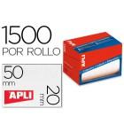 Etiqueta adesiva apli 1686 formato 20x50 mm em rolo de 1500 unidades