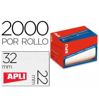 Etiqueta adesiva apli 1688 formato 22x32 mm em rolo de 2000 unidades