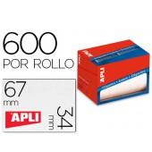 Etiqueta adesiva apli 1695 formato 34x67 mm em rolo de 600 unidades