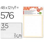 Etiquetas adesivas liderpapel 10 + 2 folhas. 5x35 mm. 432 etiq.
