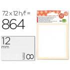Etiquetas adesivas liderpapel 10 + 2 folhas. 8x12 mm. 864 etiq.