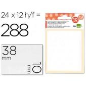 Etiquetas adesivas liderpapel 10 + 2 folhas. 10x38 mm. 252 etiq.