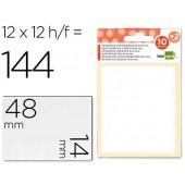 Etiquetas adesivas liderpapel 10 + 2 folhas. 14x48 mm. 120 etiq.