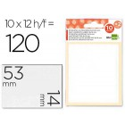 Etiquetas adesivas liderpapel 10 + 2 folhas. 14x53 mm. 120 etiq.