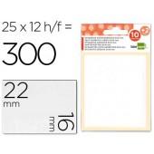 Etiquetas adesivas liderpapel 10 + 2 folhas. 16x22 mm. 300 etiq.