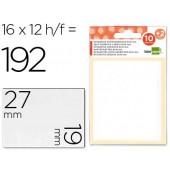 Etiquetas adesivas liderpapel 10 + 2 folhas. 19x27 mm. 192 etiq.