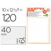 Etiquetas adesivas liderpapel 10 + 2 folhas. 19x40 mm. 120 etiq.