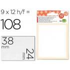 Etiquetas adesivas liderpapel 10 + 2 folhas. 24x38 mm. 108 etiq.