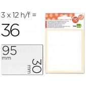Etiquetas adesivas liderpapel 10 + 2 folhas. 30x95 mm. 24 etiq.