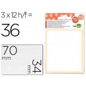 Etiquetas adesivas liderpapel 10 + 2 folhas. 34x70 mm. 36 etiq.