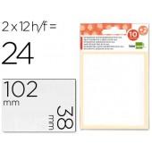 Etiquetas adesivas liderpapel 10 + 2 folhas. 18x102 mm. 24 etiq.