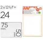 Etiquetas adesivas liderpapel 10 + 2 folhas. 50x75 mm. 24 etiq.