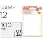 Etiquetas adesivas liderpapel 10 + 2 folhas. 54x100 mm. 12 etiq.