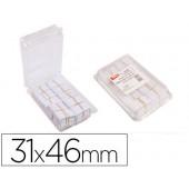 Etiquetas para pendurar apli 161021 textil perfurada 31 x 46 mm caixa de 1000