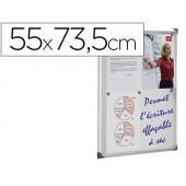 Vitrina de anuncios nobo mural magnetica extraplana de interior con puerta y marco con cerradura de aluminio 55x73.5 cm
