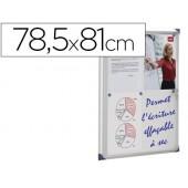 Vitrina de anuncios nobo mural magnetica extraplana de interior con puerta y marco con cerradura de aluminio 78.5x81 cm