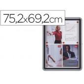 Vitrina de anuncios nobo mural magnetica de exterior din a4 con puerta y marco con cerradura de aluminio 69.2x75.2 cm