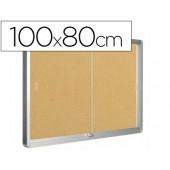 Vitrina de parede com porta q-connect com 100 x 80 cm