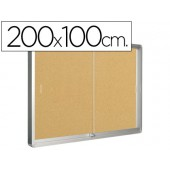 Vitrina de anuncios marco dealuminio 200x100 cm