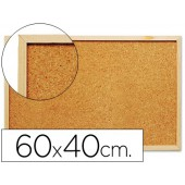 Quadro de cortica q-connect com caixilho em madeira. 400 x 600 mm