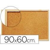 Quadro de cortica q-connect com caixilho em madeira. 600 x 900 mm