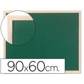Quadro verde q-connect caixilho madeira 90x60 cm.