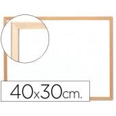 Quadro em melamina q-connect c/ caixilho em madeira. 400 x 300 mm