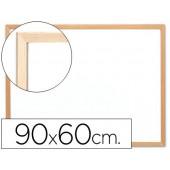 Quadro branco q-connect c/caixilho made ira 90x60 cm