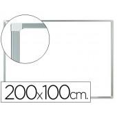 Quadro branco q-connect melamina magnetico caixilho aluminio 200x100 cm