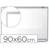 Quadro branco nobo prestige magnetico lacado moldura aluminio 900x600 mm