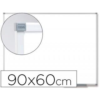 Quadro branco nobo classic magnetico de aco vitrificado 90x60 cm