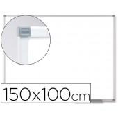 Quadro branco nobo classic magnetico de aco vitrificado 150x100 cm