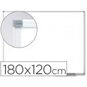 Quadro branco nobo classic magnetico de aco vitrificado 180x120 cm