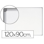 Quadro branco bi-office earth-it magnetico de aço vitrificado moldura de aluminio 120 x 90 cm com bandeja para acessorios