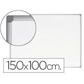 Quadro branco bi-office earth-it magnetico de aço vitrificado moldura de aluminio 100 x 150 cm com bandeja para acessorios