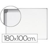 Quadro branco bi-office earth-it magnetico de aço vitrificado moldura de aluminio 180 x 120 cm com bandeja para acessorios