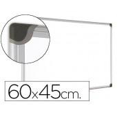 Quadro branco bi-office magnetica maya w ceramica vitrificada moldura de aluminio 60 x 45 cm com bandeja para acessorios