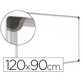 Quadro branco bi-office magnetica maya w ceramica vitrificada moldura de aluminio 120 x 90 cm com bandeja para acessorios