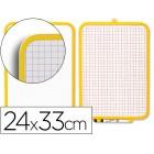 Quadro branco com marcador e apagador. 2 faces. 240 x 330 mm