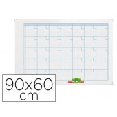 Planning magnetico nobo anual marco metalico 90x60 cm