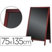 Quadro preto liderpapel cavalete dupla face de madeira com superficie para marcadores 75x135 cm