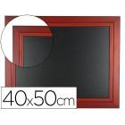 Quadro preto liderpapel mural de madeira com superficie para marcadores tipo giz 40x50cm