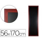 Quadro preto liderpapel mural de madeira com superficie para marcadores tipo giz 56x170cm