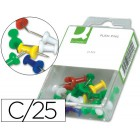 Sinalizador de planos q-connect - caixa de 25 unidades cores sortidas